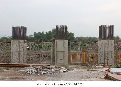 Bridge pier Structure Toll Road