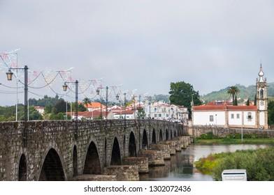 Bridge in Ponte de Lima, Portugal.