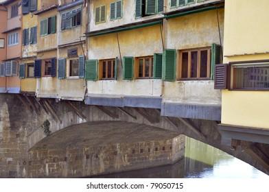 Bridge Ponte Vecchio over Arno river, Florence, Italy
