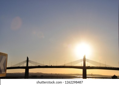 The bridge at the port of Tunis shortens the east to west way trough the city and to Hammamet