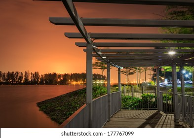 Bridge at Punggol Waterways, Singapore