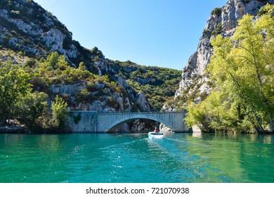 Bridge of Quinson, access gate to the Verdon Canyon (Les Gorges du Verdon)