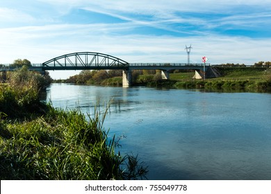 bridge, river, countryside