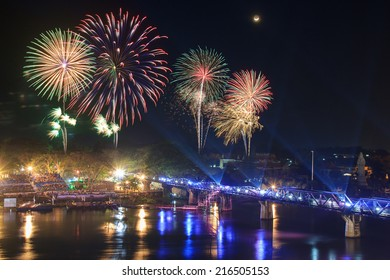 The Bridge of the River Kwai festival, Kanchanaburi Province, Thailand
