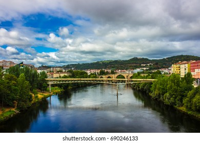 Bridge. River Minho. Ourense city, Galicia, Spain. Picture taken – 29 july 2017.