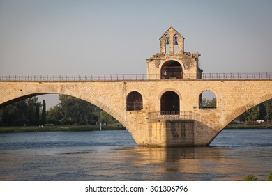 Bridge at river Rhone in Avignon