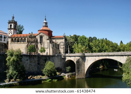 Bridge, River Tamega & The Monastery Of Sao Goncalo