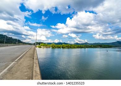 bridge and river in Thailand