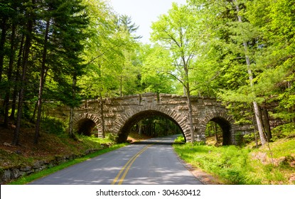 Bridge and Road, Acadia National Park