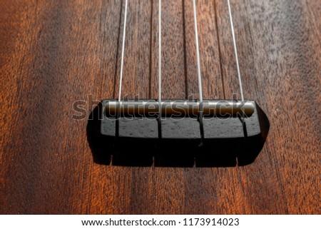 Bridge Saddle Guitar Closeup Classical Guitar Stock Photo Edit Now