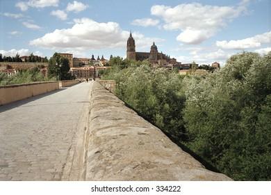 bridge in Salamanca, Spain