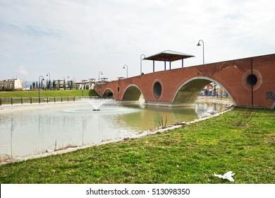 Bridge in San Donato Park, Florence, Italy
