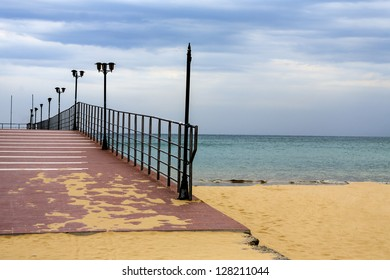 bridge in the sea, Bulgaria