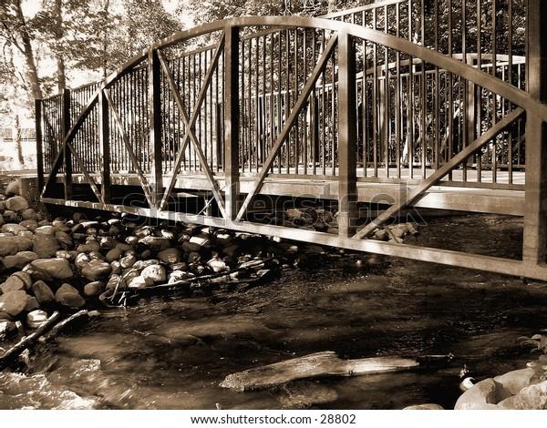 bridge in sepia