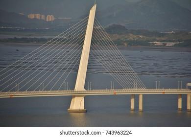 Bridge in Shekou between Shenzhen and Hong Kong China