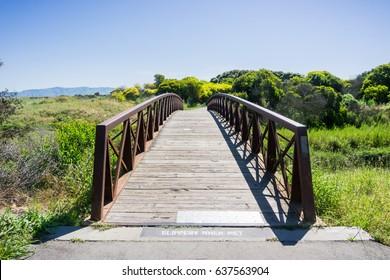 Bridge in Shoreline Park, Mountain View, California