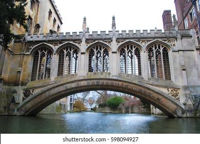 Bridge of Sighs, Cambridge, UK, England.