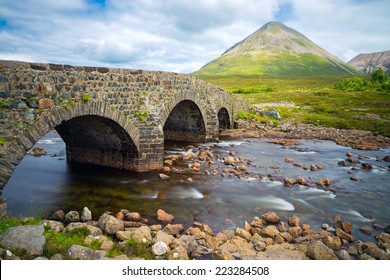 The bridge at Sligachan on the Isle of Skye in Scotland