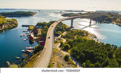 Bridge in Sotra islans. Bergen, Norway.