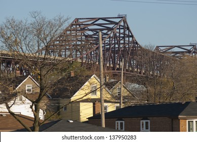 Bridge in Suburban South side of Chicago