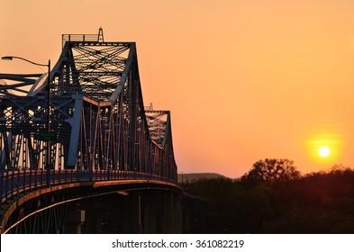 Bridge at Sunset in La Crosse, Wisconsin