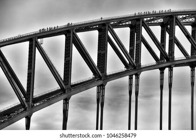 Bridge - Sydney Harbor Bridge is an Australian icon and a landmark that aptly represents Sydney. It's robust and joins many worlds and cultures.