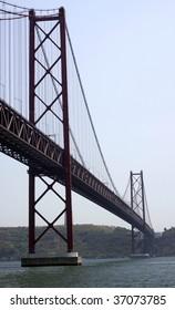 a bridge through a bay connecting two banks