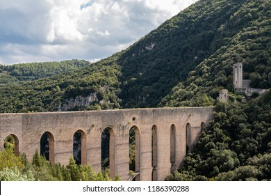 The Bridge of the Towers an aqueduct bridge probably of Roman origin, which connects the hill of Sant'Elia to Monteluco to the south of Spoleto.