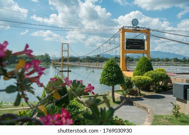 the Bridge in the town of Tak in the Province of Tak in Thailand.   Thailand, Tak, November, 2019