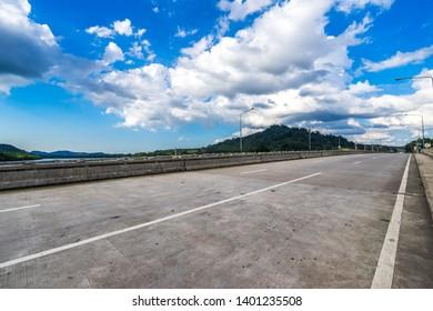 bridge under blue sky in Thailand