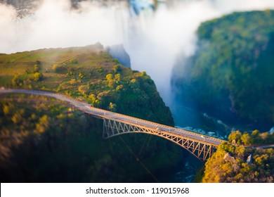 Bridge at Victoria Falls, a bungee-jumping hot spot