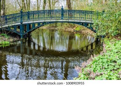 Bridge in Vondelpark in Amsterdam, Holland