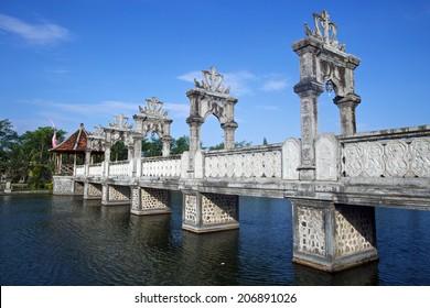 Bridge in Water Palace, Candidasa, Bali