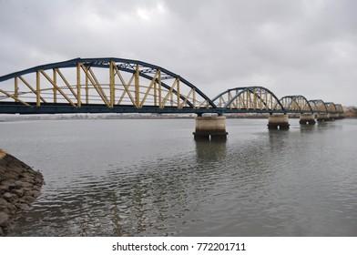 bridge, water, river