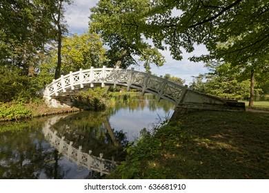 Bridge in Woerlitzer Park in Germany, Unesco World Cultural Heritage