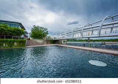 Bridge at The Yards Park in the Navy Yard neighborhood of Washington, DC.
