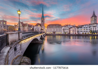 Bridge in Zurich Switzerland