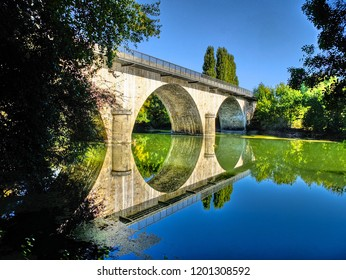 Villevèque bridge-Maine and Loire-France