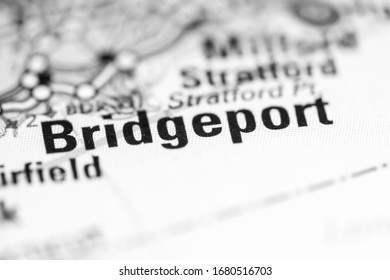 Bridgeport. Connecticut. USA on a geography map