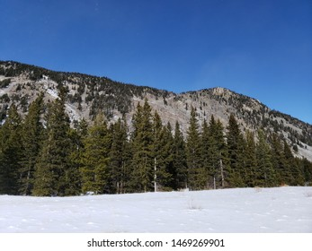 Bridger Mountains in Montana during winter