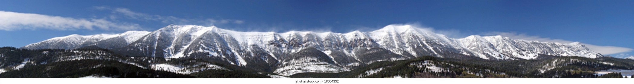 The Bridger Mountains Panorama