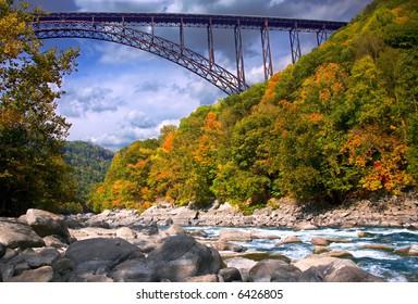 Bridger over New River in West Virginia