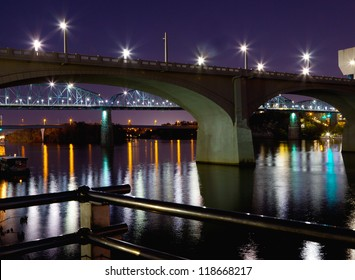 Bridges in downtown Chattanooga, Tennessee