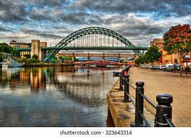 Bridges in Newcastle upon Tyne (England), HDR-technique