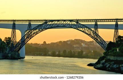Bridges over Douro river in Porto, Portugal