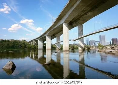 Bridges over the James River in Richmond Virginia