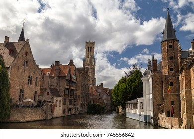 Bridges and streets of Bruges, Belgium