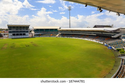 BRIDGETOWN, BARBADOS - NOVEMBER 9: Kensington Oval Cricket Ground in Bridgetown, Barbados, pictured on November 9, 2013.  The venue hosted the 2007 World Cup Final and the 2010 ICC World T20 Final.