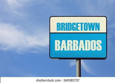Bridgetown Barbados Sign