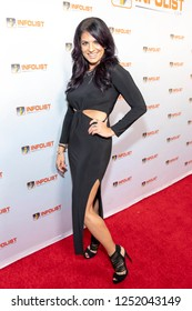 Bridgetta Tomarchio attends INFOList.com Red Carpet Re-Launch Party & Holiday Extravaganza! at SKYBAR at the Mondrian Hotel, Los Angeles, California on December 5th, 2018
